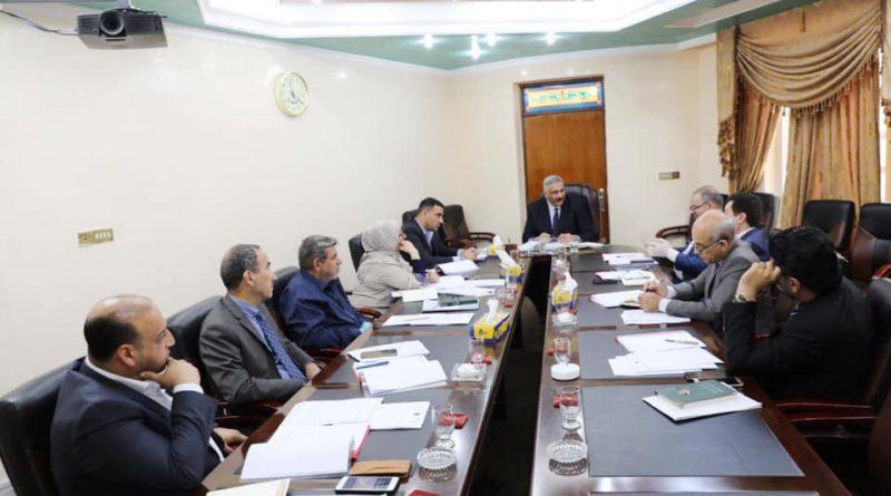 المهندس علي صالح هادي يترأس الاجتماع الاول لمجلس إدارة السمنت العراقية بعد توليه المنصب